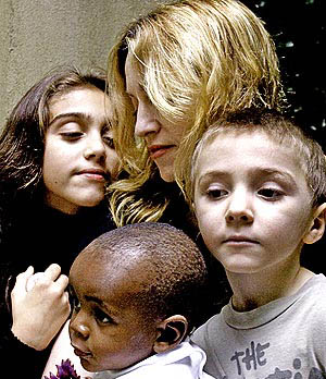 Madonna, her children, her family